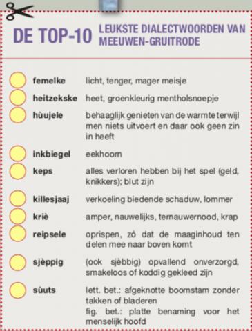 10 mooiste dialectwoorden
